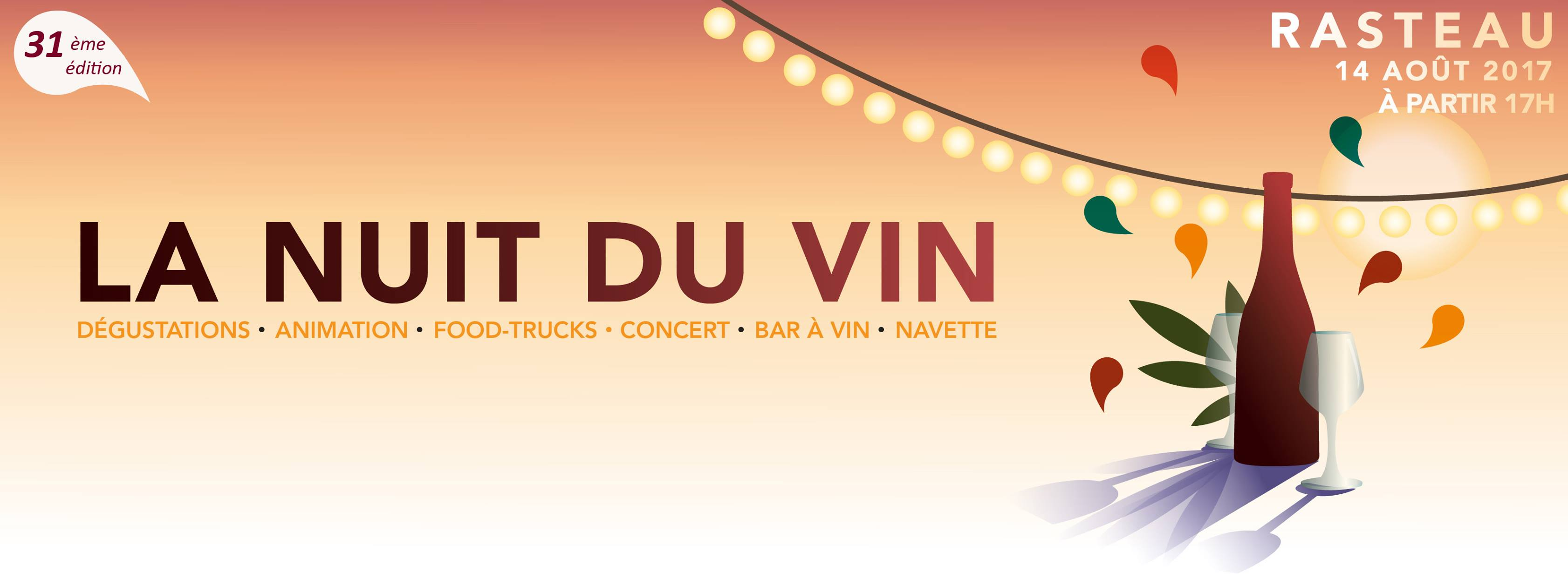 La nuit du vin Rasteau 2017