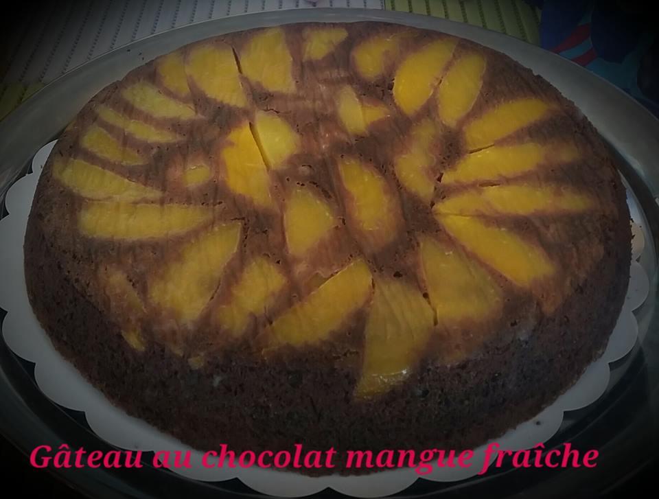 gateau chocolat mangue