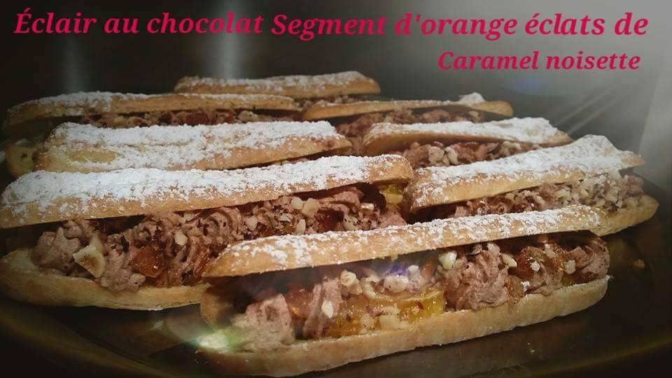 Eclair_au_chocolat_segment_d'orange_éclat_de_caramel_noisette