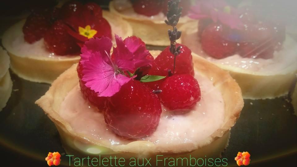 Tartelette aux framboises