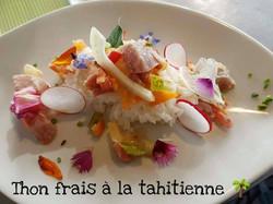 Thon frais a la Tahitienne.