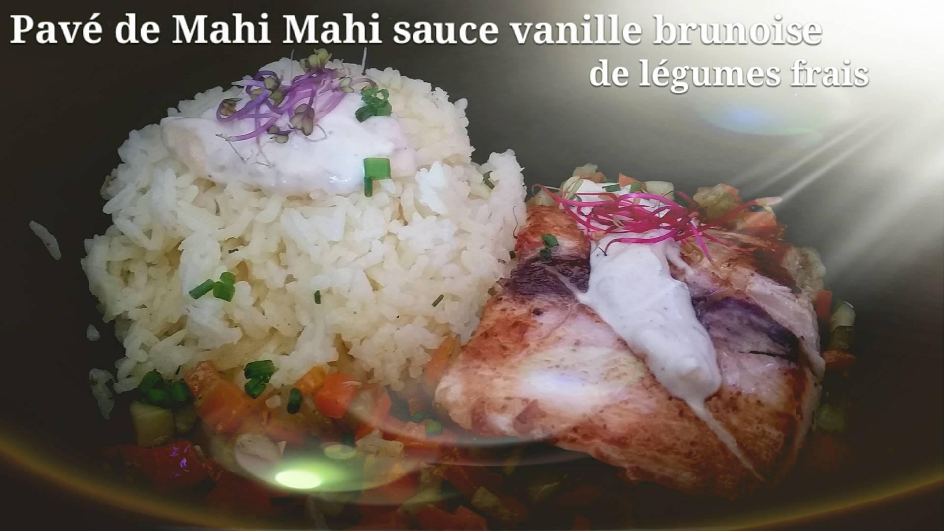 pavé_de_Mahi_Mahi_sauce_Vanille_de_Tahiti_brunoise_de_légumes_frais