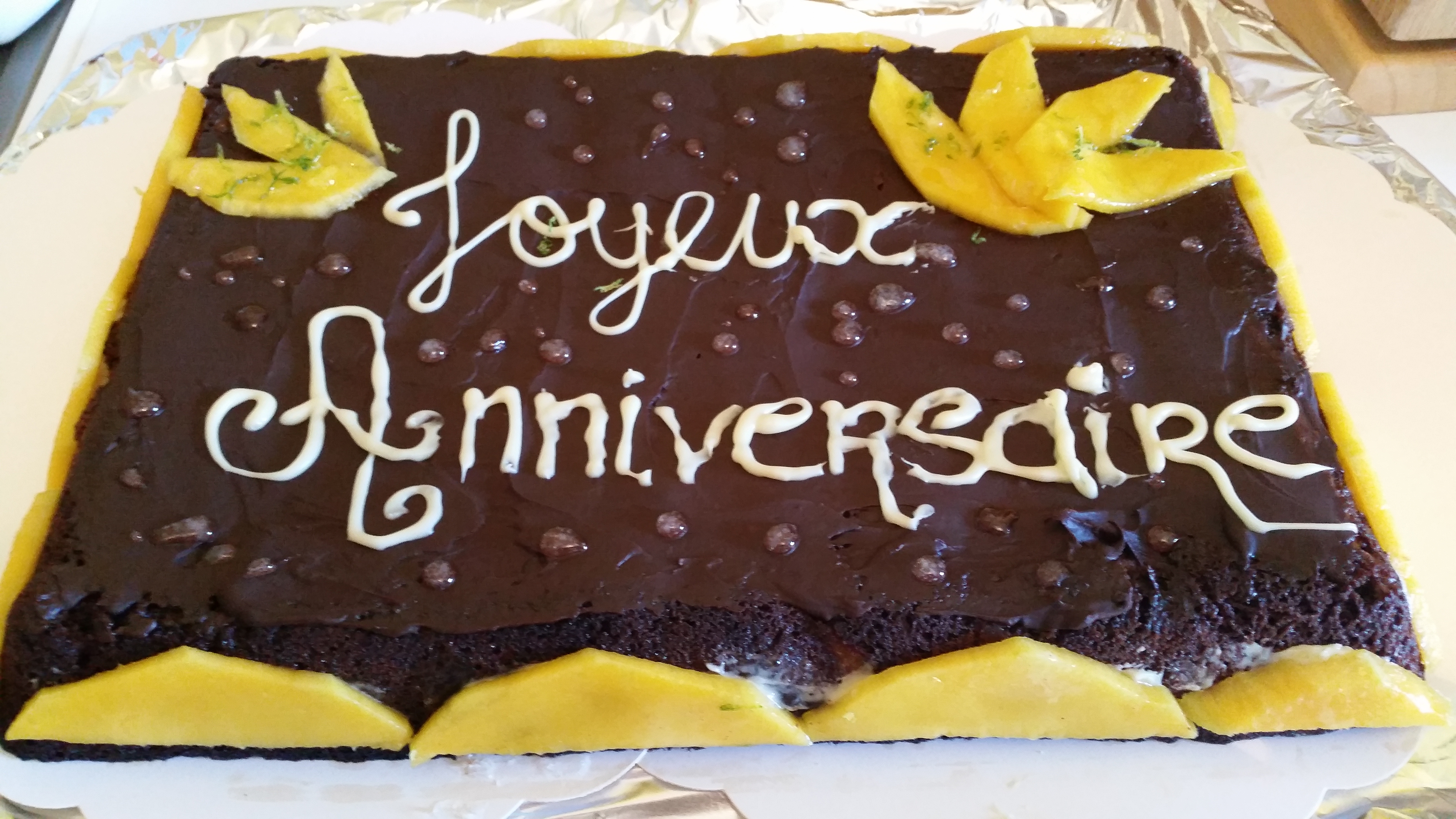 Gâteau chocolat mangue