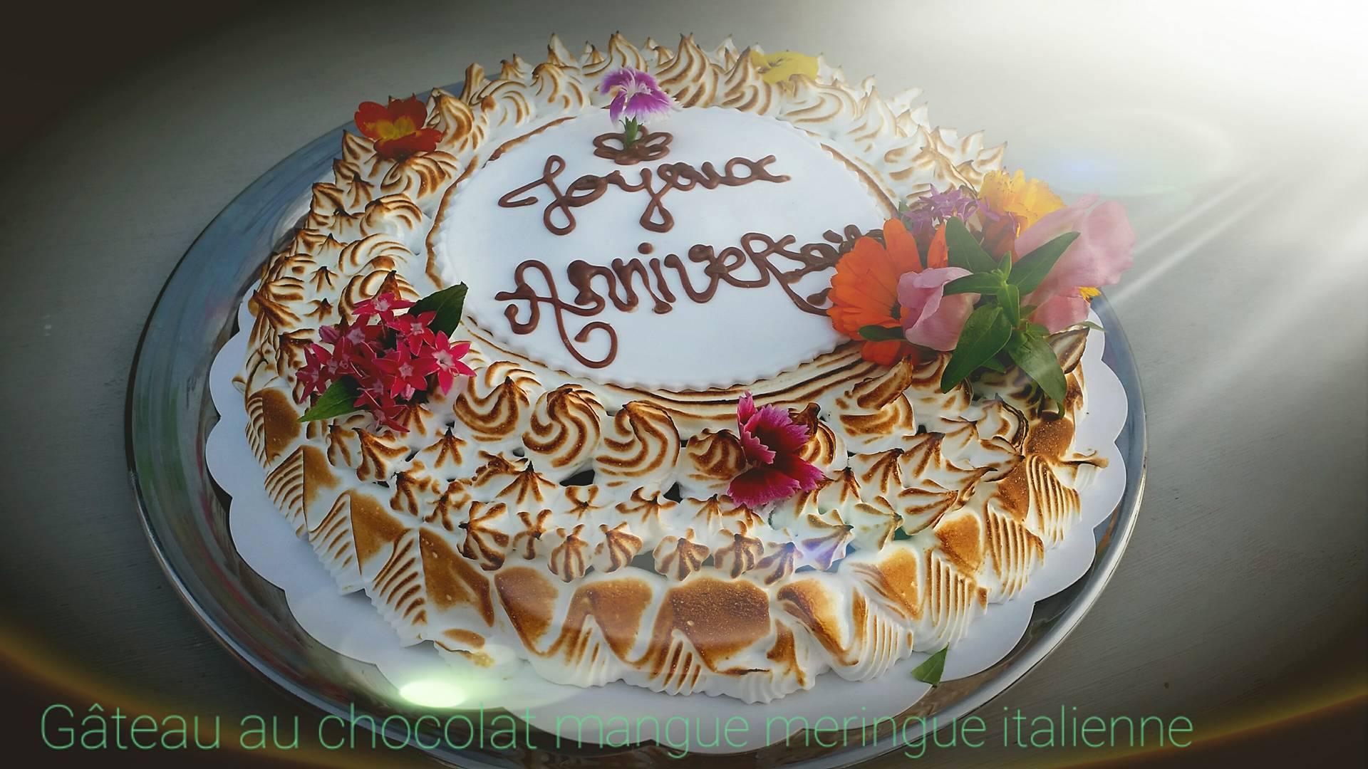 Gâteau_au_chocolat_mangue_meringue_italienne