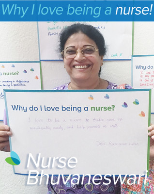 """I love to be a nurse to take care of medically needy children, and help the parents as well"""