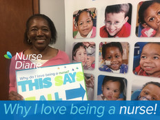 I love being a nurse because first and foremost i love people and if there is anything i can do to make their lives better, i get a heart felt joy from that. I especially love pediatric nursery because kids are so pure and loving and i enjoy relating to them giving and receiving all we offer each other. To sum it all up, i first love helping and loving on people. My greatest joy comes from seeing them smile.