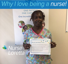 I have been a nurse now for 36 years, nursing for me is part of who I am as a person, my personality. I've always believed that everyone has a special gift from god and my gift is to help nurse individuals back to health, its my calling in life and service to God on this earth.