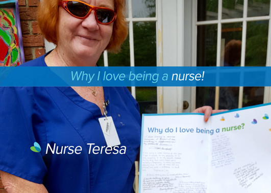 """It's my calling! My dad said when I was 5 years old I told him I wanted to be a nurse! 38 years later and numerous patients, here I am"""