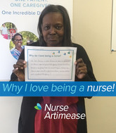 I love being a nurse because it gives to gratification to help a special person and their family. I would like to think if any one in my family becomes ill enough to require nursing care, someone would be able to take as good care of them. I love working with my patient and his family!