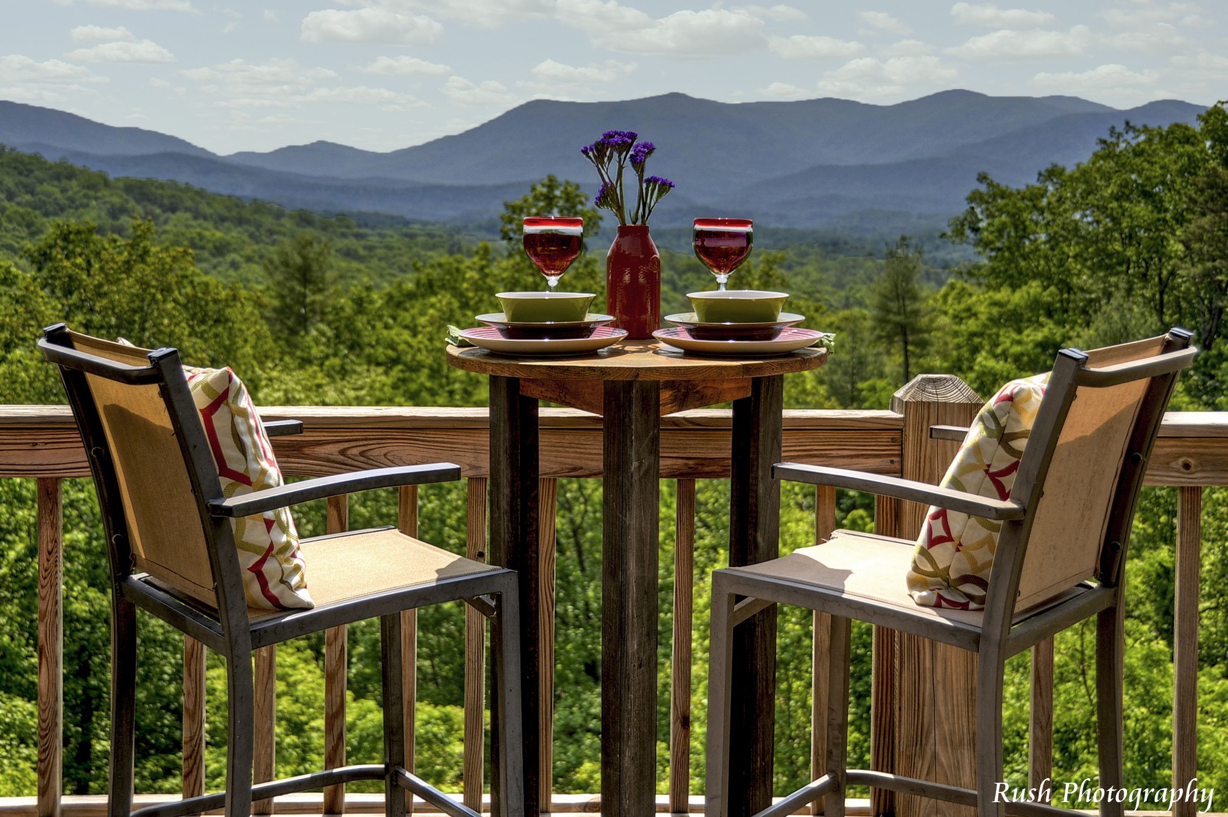 Outdoor dining with incredible views