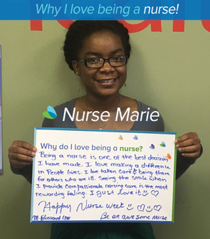 Being a Nurse is one of the best decisions I have made. I love making a difference in people's lives. I love taking care and being there for others who are ill. Seeing the smile when I provide compassionate nursing care is the most rewarding feeling. I just love it!!!.