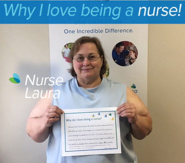Why do I love being a nurse? Some people can put up walls and buildings while others can teach. Some people can manage huge companies with all types of problems to solve. Nursing allows me to do all of these things. I enjoy caring for people by putting up walls that protect my clients from harm and teaching them safety. I problem solve situations on a daily basis and sometimes on a hourly basis. Caring for people or nursing is a combination of so many different jobs.