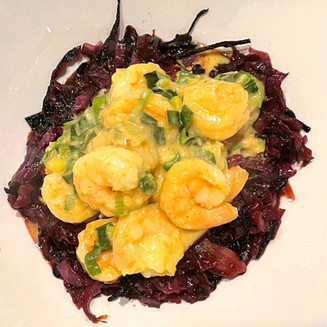 Curry & Cabbage Shrimp