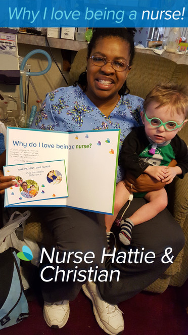 """I love being a nurse because  I know I am making a difference in my patients' lives"
