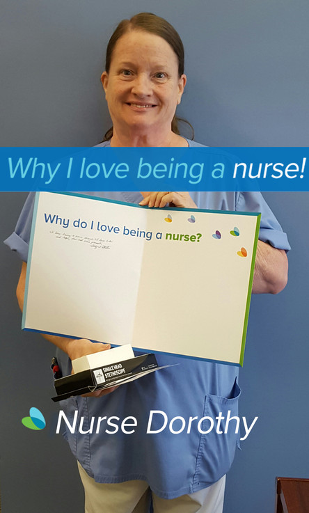 I love being a nurse because I love kids, helping them and their parents.