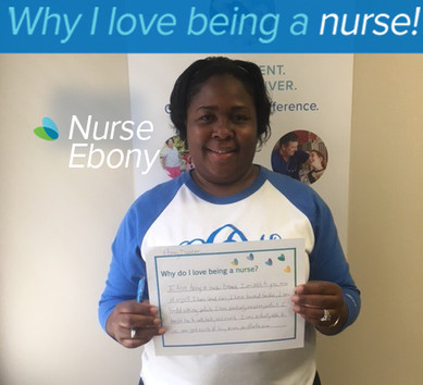 I love being a nurse because I am able to give more of myself. I have saved lives, I have touched families, I have bonded with my patients. I have practically raised my patient. I taught her to walk, talk read and write. I was actually able to see some good results of being a nurse, an effective nurse.
