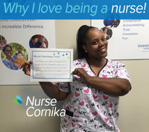 I love being a nurse because I enjoy taking care of people. I love helping those people who are unable to do for themselves. It makes me feel good knowing that I can make a difference in someone's life.