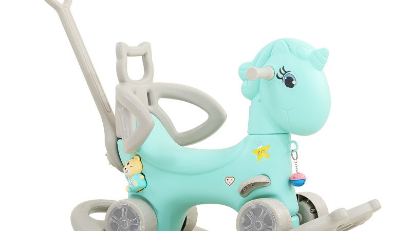 Baby Unicorn Rocking Horse 2 in1 Stroller Multifunctional Early Educational Toys