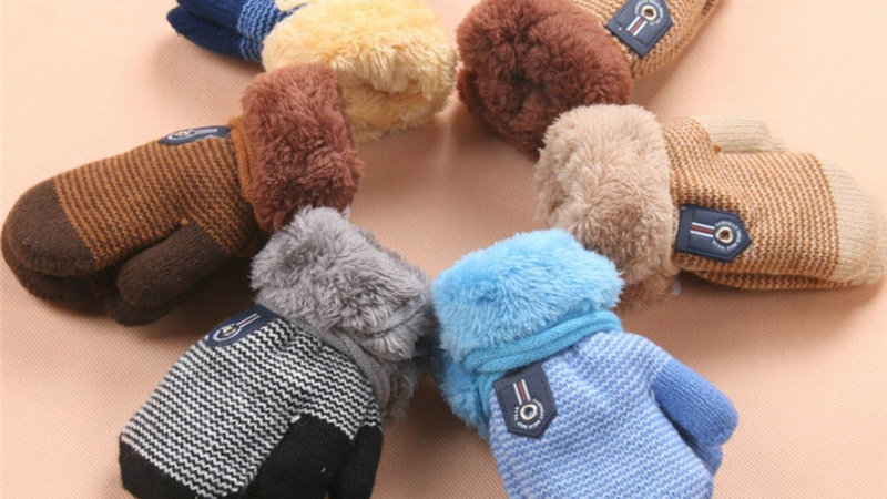 Thick Winter Mittens for Toddlers