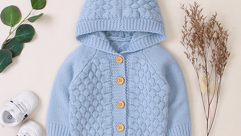 Winter wool jumper for boys and girls 6mos-24mos