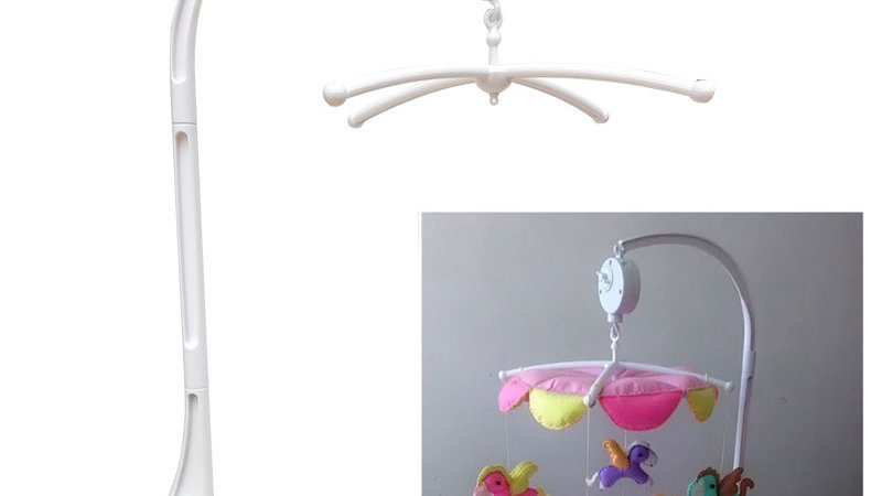 Newborn Cot/Pram Mobiles Bell Holder Arm Wind-Up Music Box