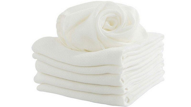 1Pc Bamboo Fiber Baby Face Towels
