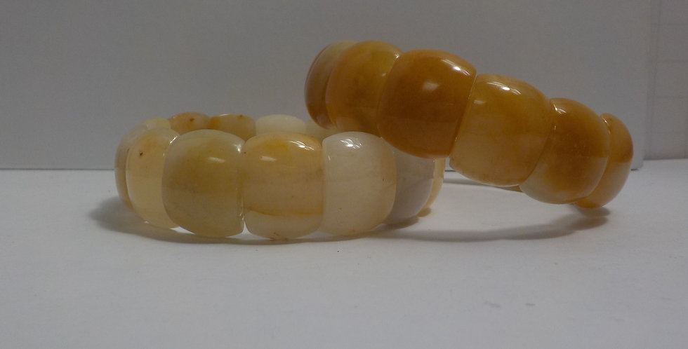 Yellow Jade Gemstone Bracelet