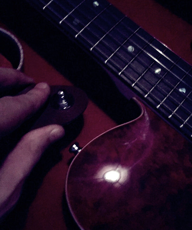 Evening Rain Single On The Harley Benton Te-90qm Trans Red
