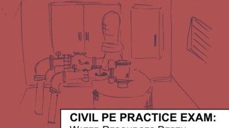 Civil PE Practice Exam: Water Resources Depth Version B
