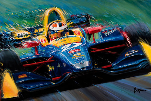 Alexander Rossi 2019 - Signed Limited Edition Print