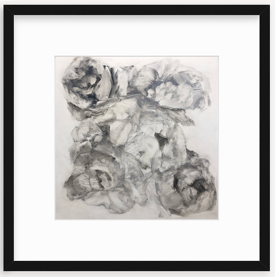 "limited time framed print, 12x12""  ]flower study'"