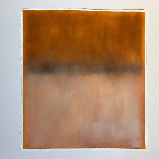 colorfield study, rust/brown can be oriented landscape or portrait