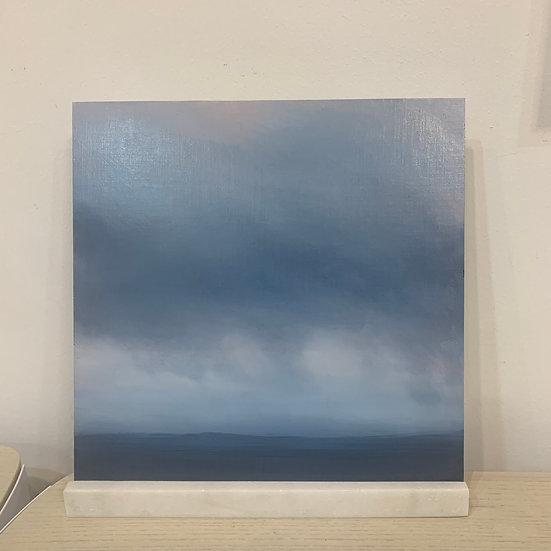 "50 words for rain, study 2, 12 x 12"" oil on board, framed"