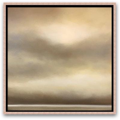 "a visible uncertainty, damask 16x16"" oil on cradled board framed"
