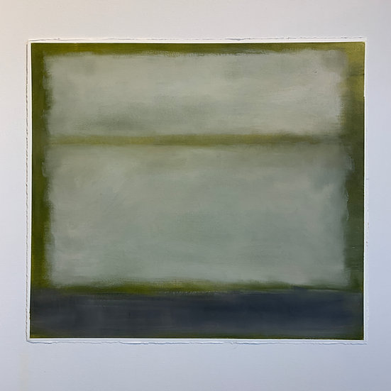 colorfield study, grey green, horizontal fields