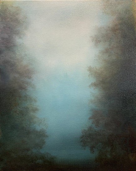 """hidden language of trees iv, 16x20"""" oil on canvas, unframed"""