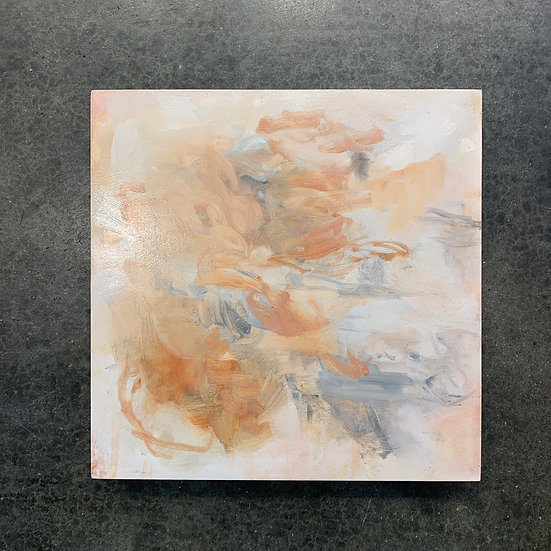 study for apricot wood, 10x10, oil on cradled board, edges white