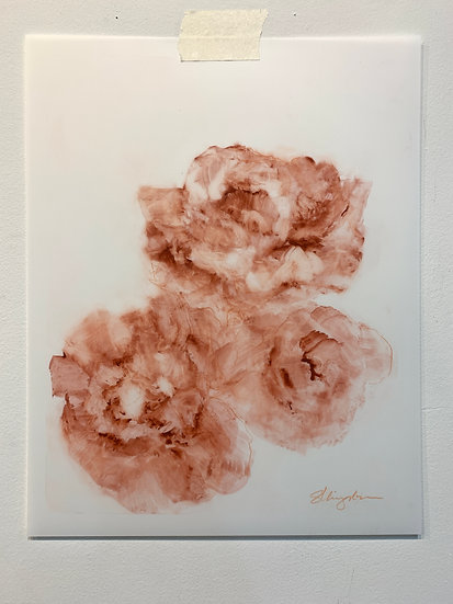 "sanguine ii, 11x14"" watercolor on yupo paper, unframed"
