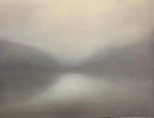"""a visible uncertainty, cashmere gray.36x48"""" oil on canvas unframed"""