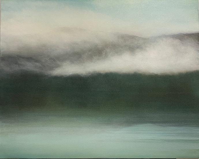 """dream drapery ii, 24x30"""" oil on canvas, unframed"""