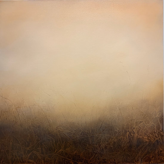 """a visible uncertainty, potters clay, 30x30"""" oil on canvas unframed"""