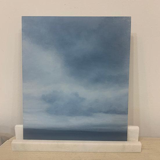 "50 words for rain, study 4, 10 x 12"" oil on board, framed"
