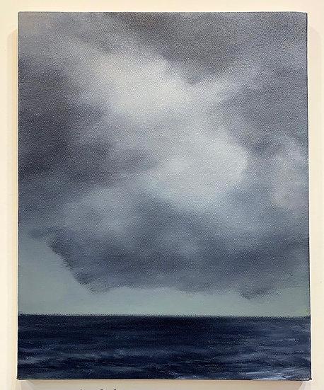 """cloud portrait ii, 11x14"""" oil on canvas, unframed"""