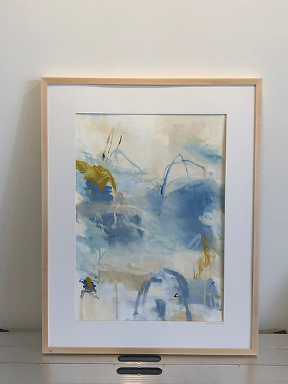 'an August with Rilke' oil on paper (unmatted and unframed)