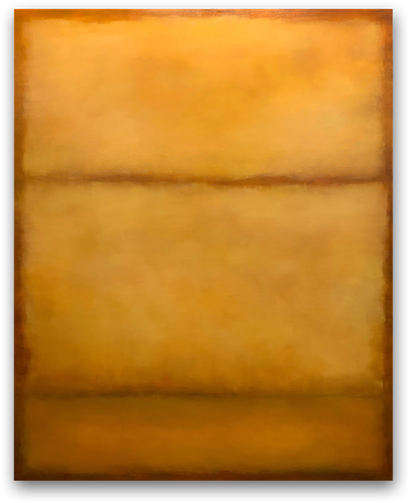 "umber/ochre | ginger/pear: 48x60"" oil on canvas, $1500"
