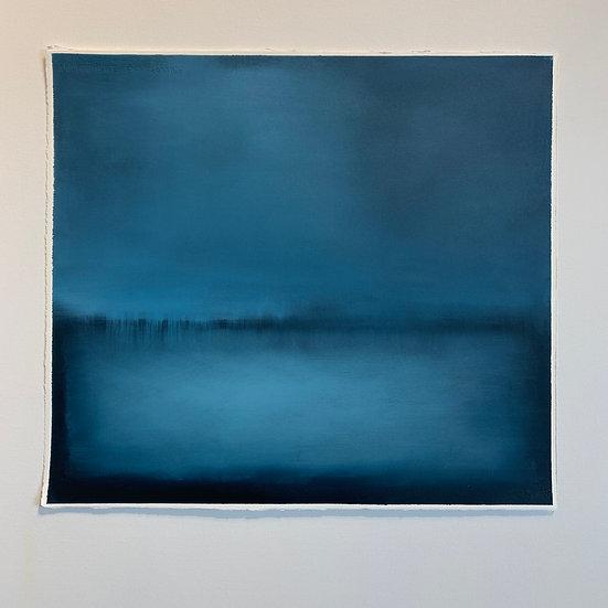 colorfield study, indigo, horizontal fields