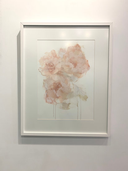 All the breath and bloom, framed oil on paper