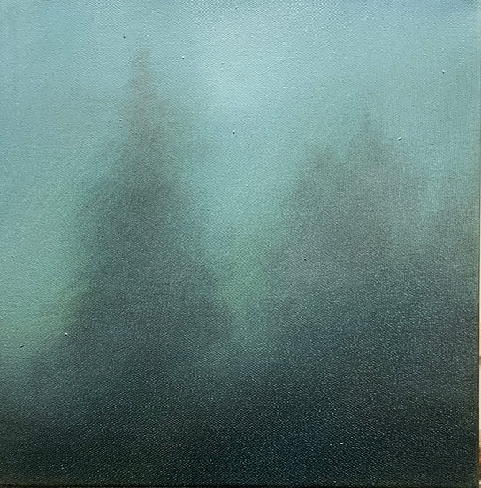 """moodtone iii, 10x10"""" oil on canvas, framed in white wood floater"""