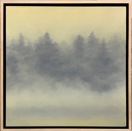 "wordless prayers, equality orange, 18x18"" oil on canvas"