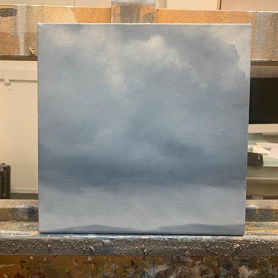 """50 words for rain, study 7, 10 x 10"""" oil on canvas, framed"""
